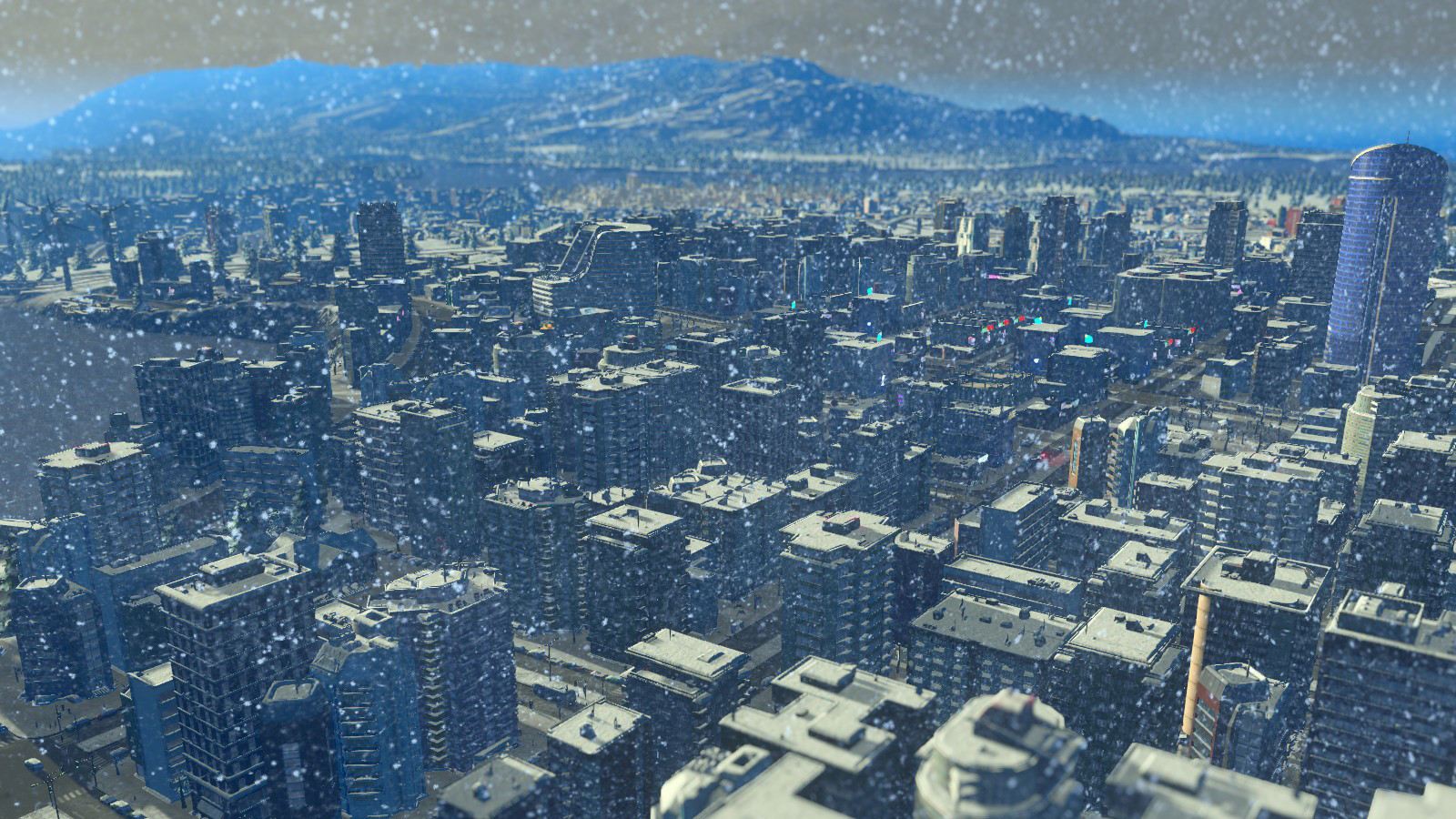 Cities: Skylines - Snowfall screenshot
