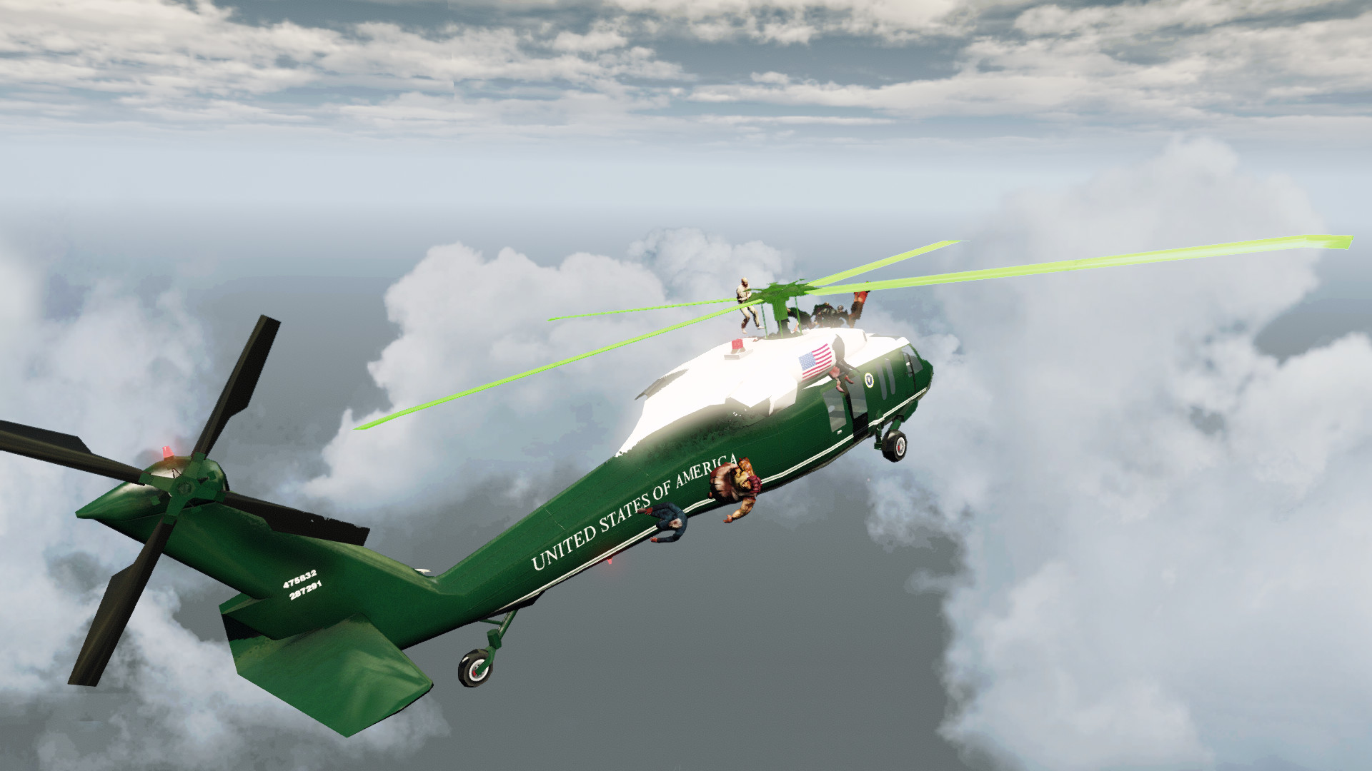 Zombies on a Plane - Helicopter screenshot