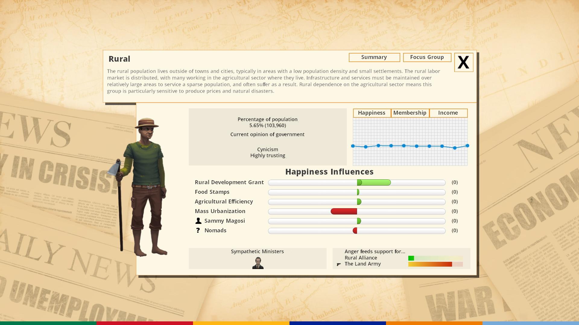 Democracy 3 Africa screenshot