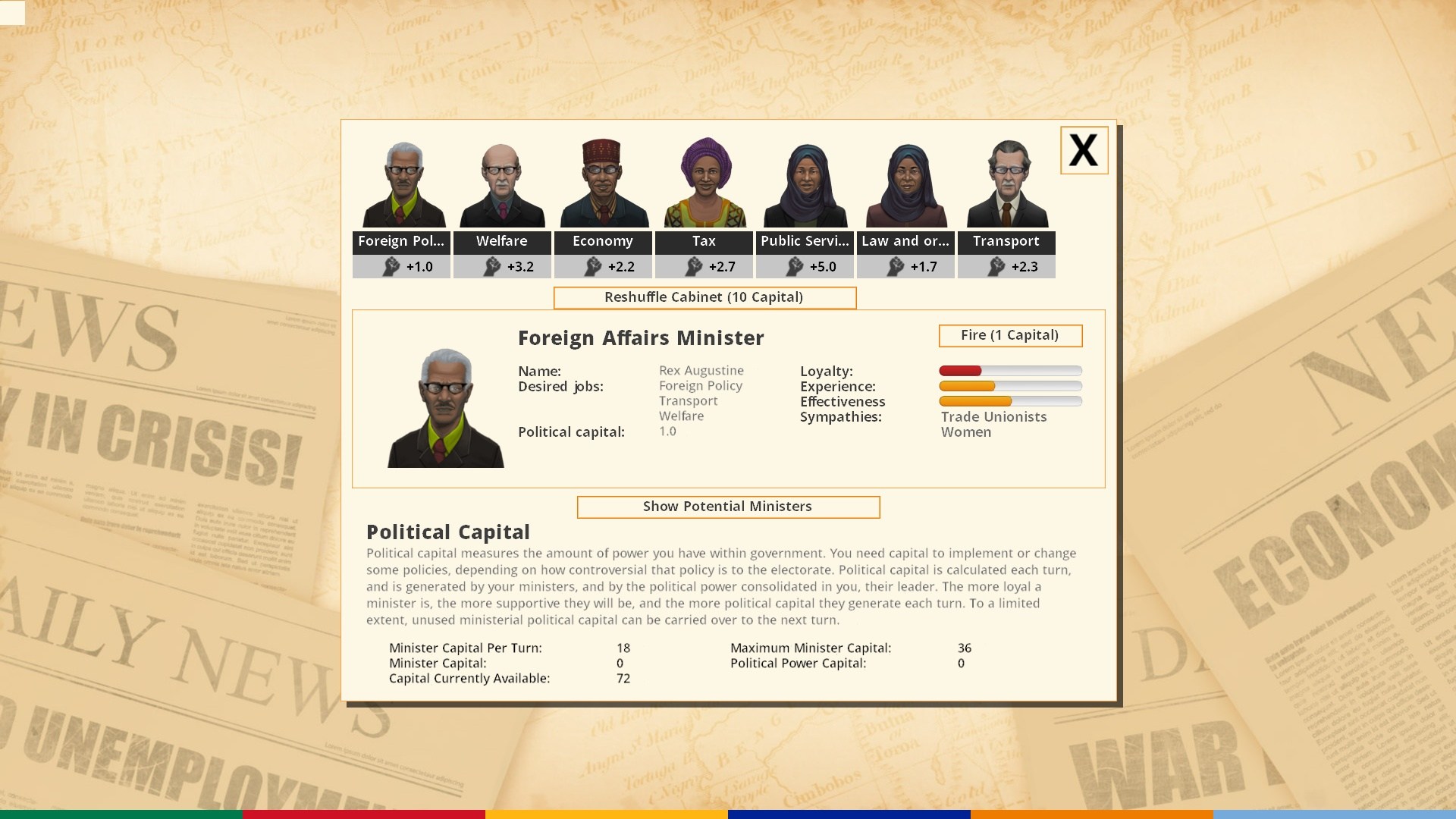 Democracy 3: Africa screenshot 1