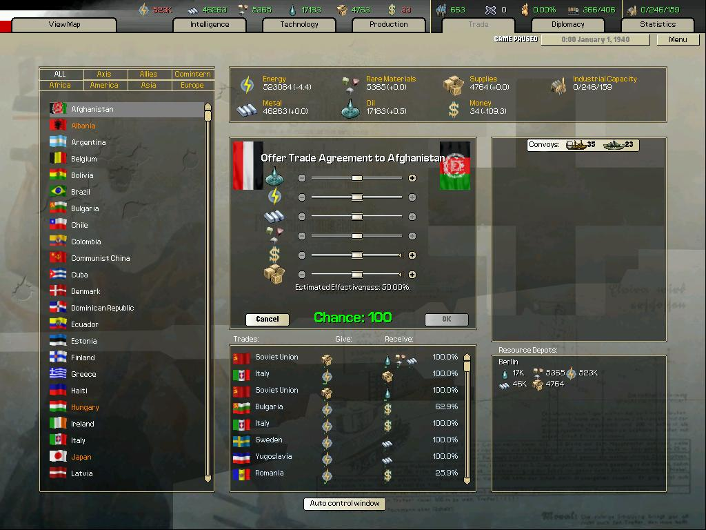 Arsenal of Democracy: A Hearts of Iron Game screenshot