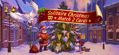 Solitaire Christmas. Match 2 Cards