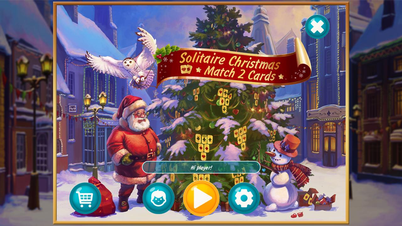 Solitaire Christmas. Match 2 Cards screenshot