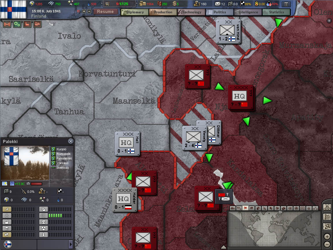 Hearts of Iron III: Semper Fi screenshot