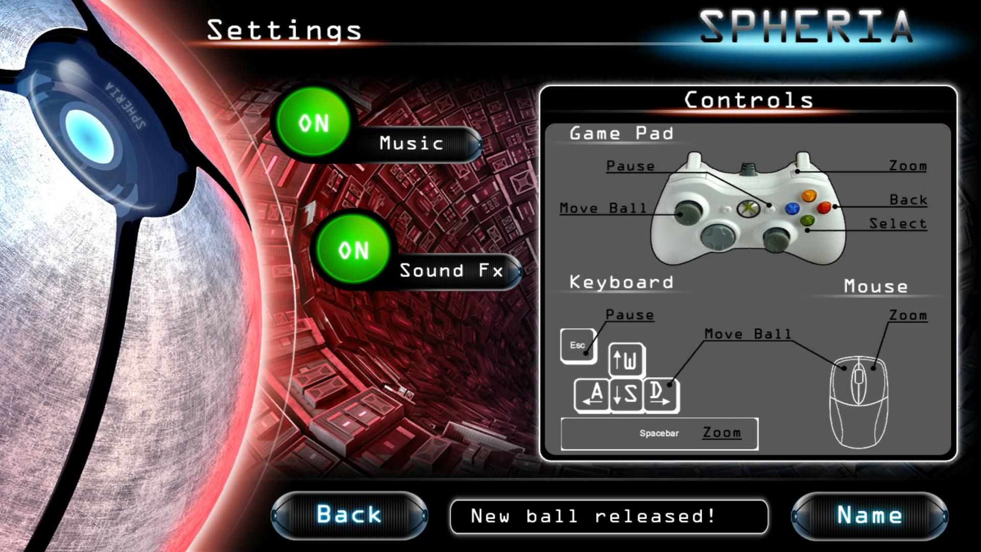 Spheria screenshot