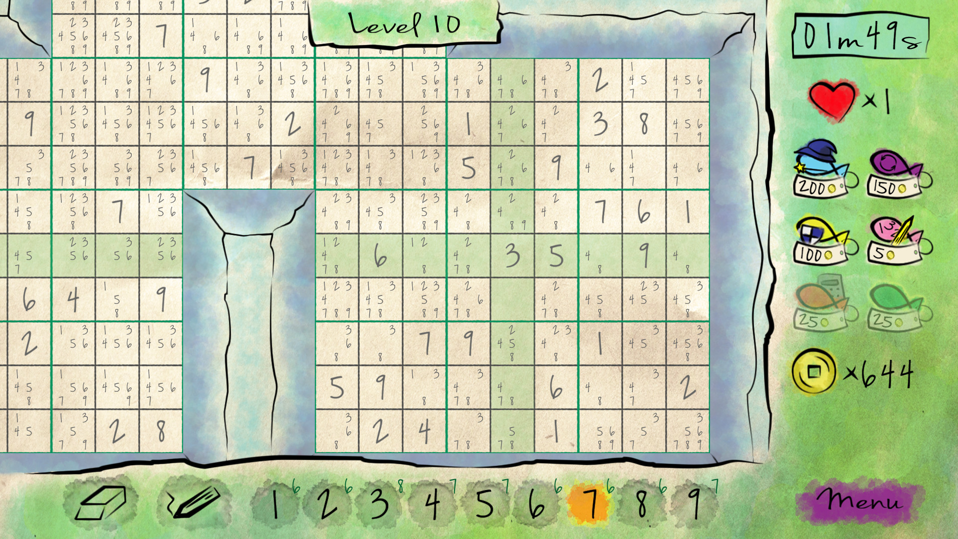 Sudoku Quest screenshot