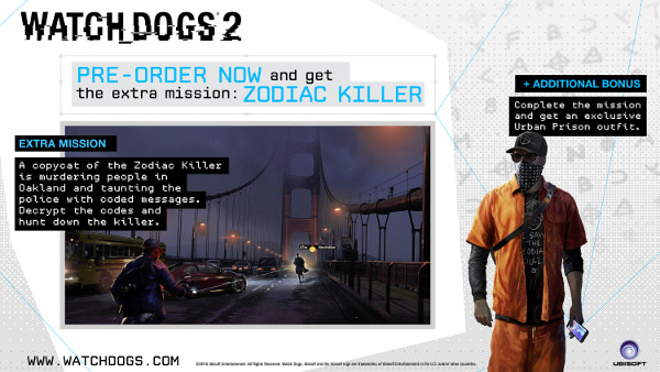 Watch Dogs  Zodiac Killer Extra