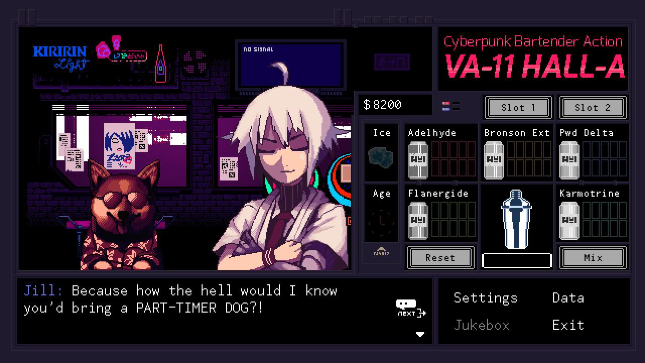 VA-11 Hall-A: Cyberpunk Bartender Action [GoG] [2016|Eng]