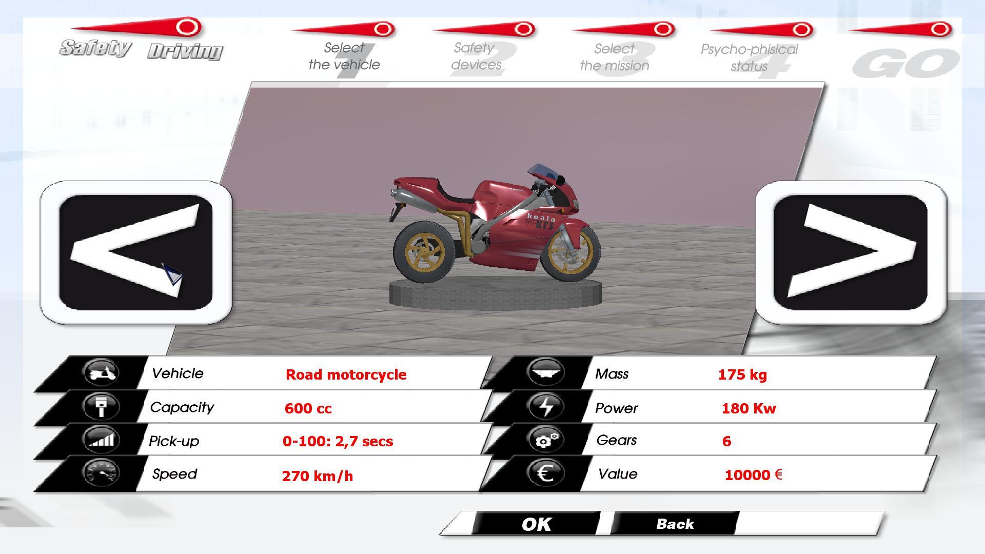 Safety Driving Simulator: Motorbike screenshot