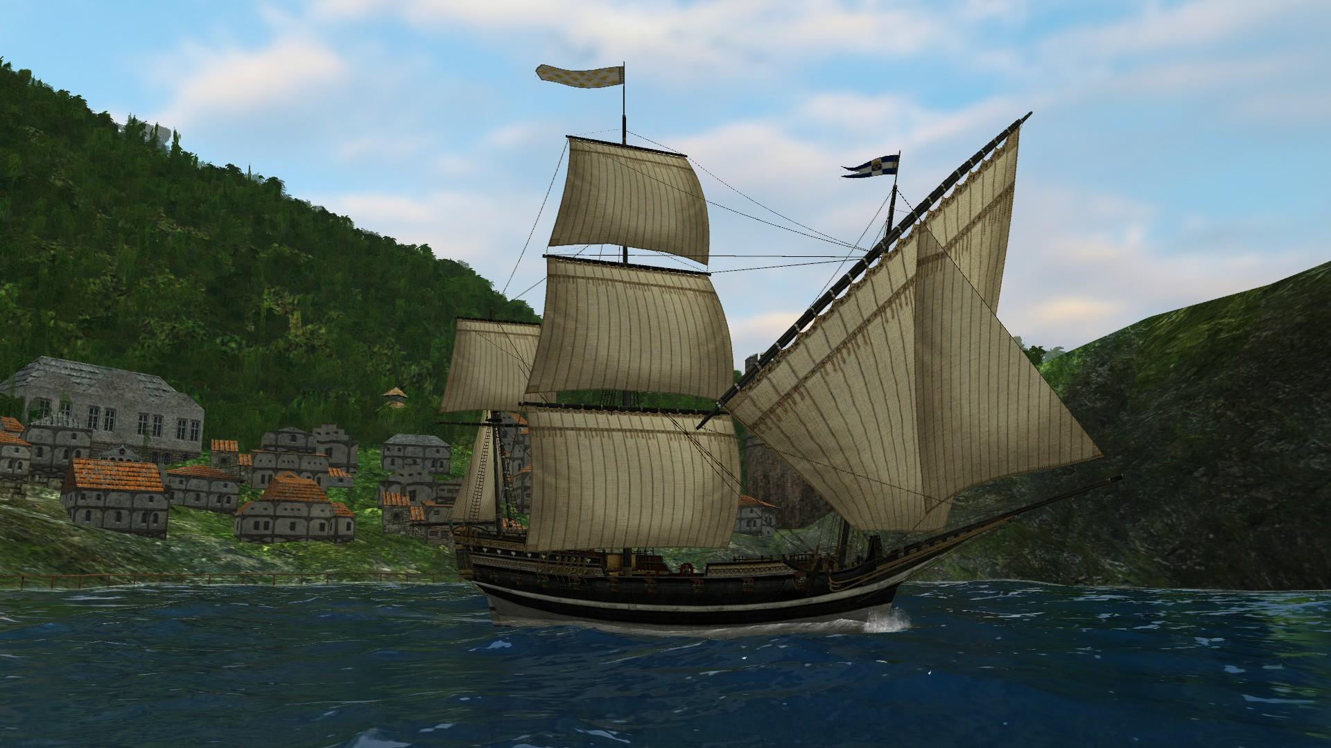 Sea Dogs: To Each His Own - Flying the Jolly Roger screenshot