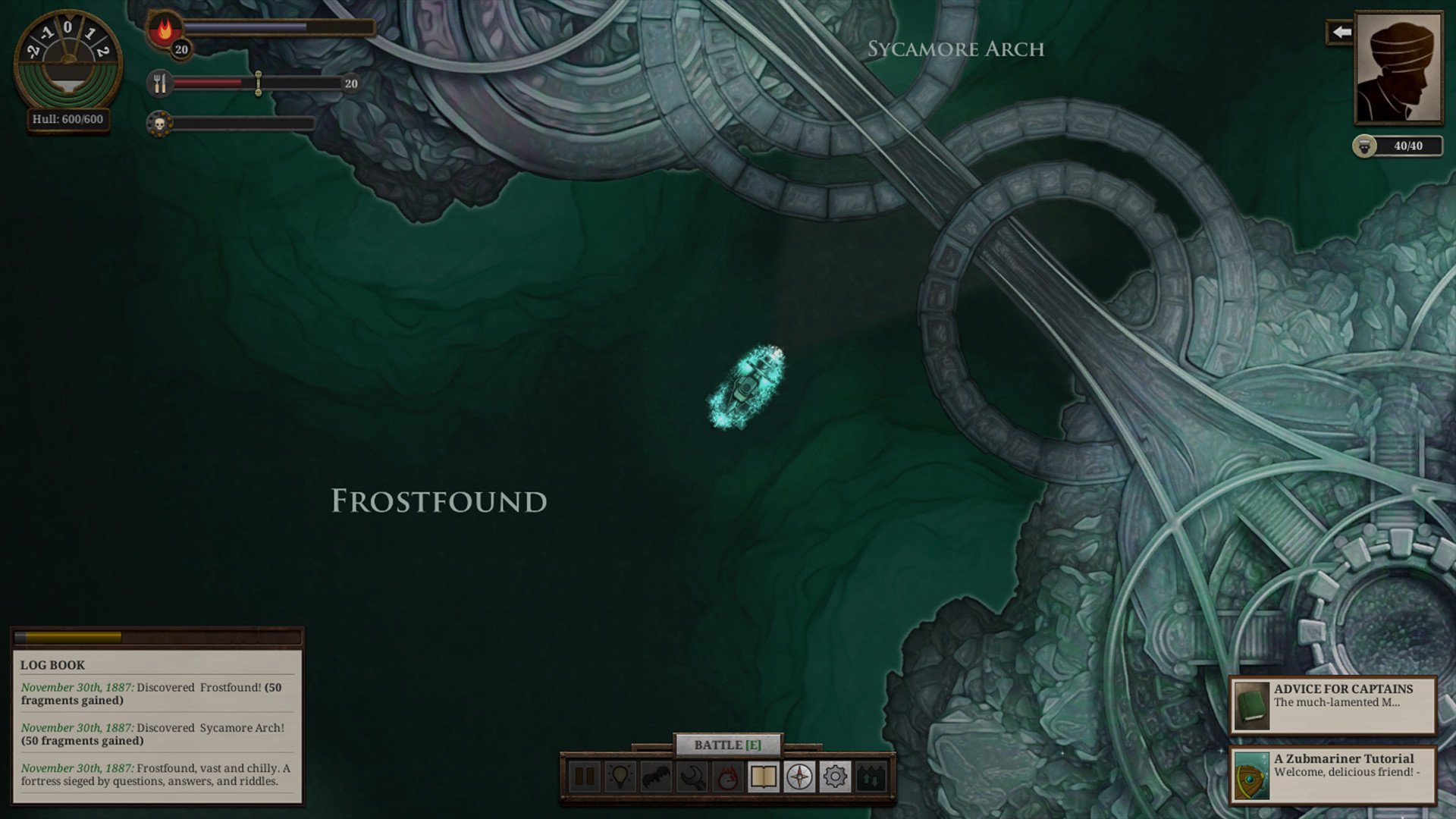 Sunless Sea - Zubmariner screenshot
