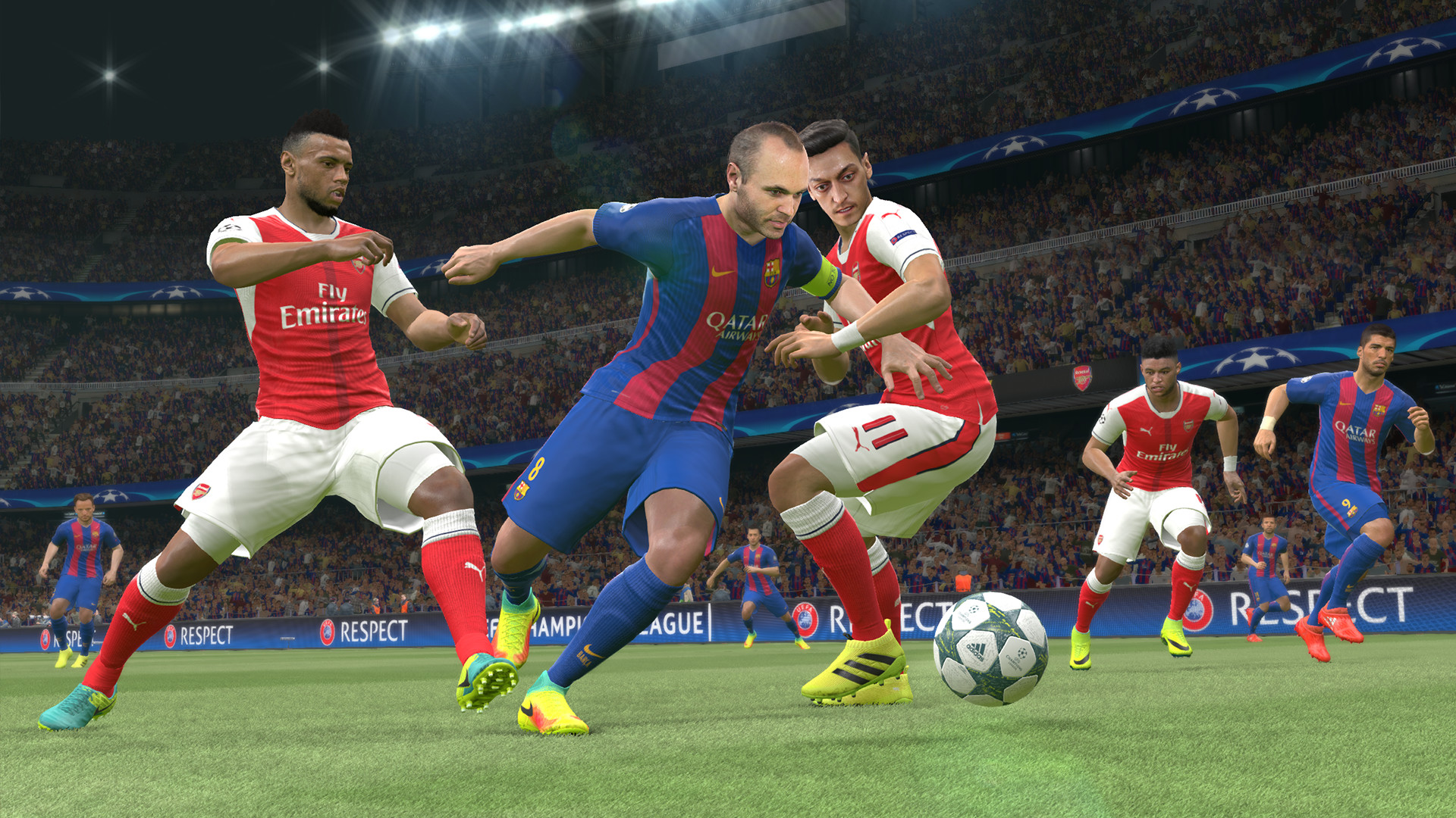 Pro Evolution Soccer 2017 screenshot1 on PCGamesCDN you can download cracked unlocked full pc version game direct free download with mirrors and torrent.