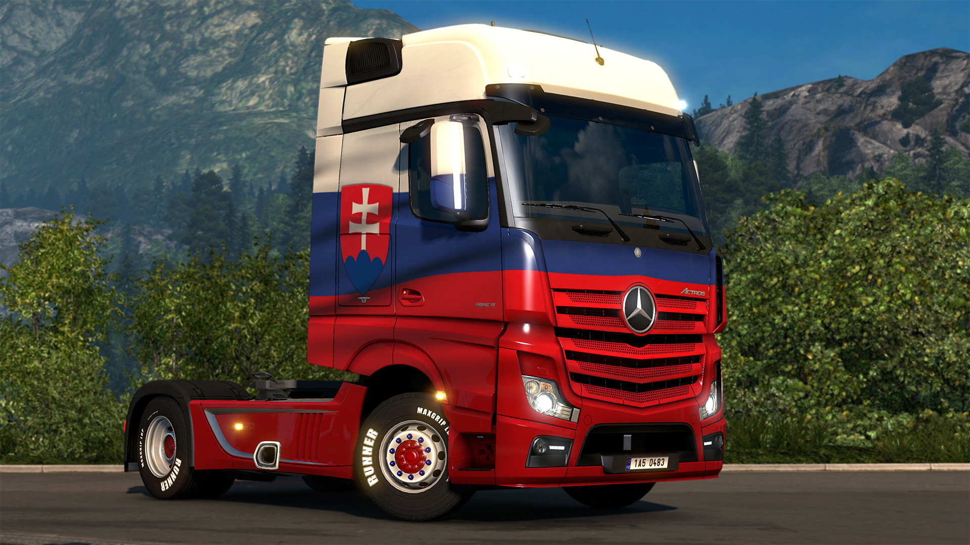 Euro Truck Simulator 2 - Slovak Paint Jobs Pack screenshot