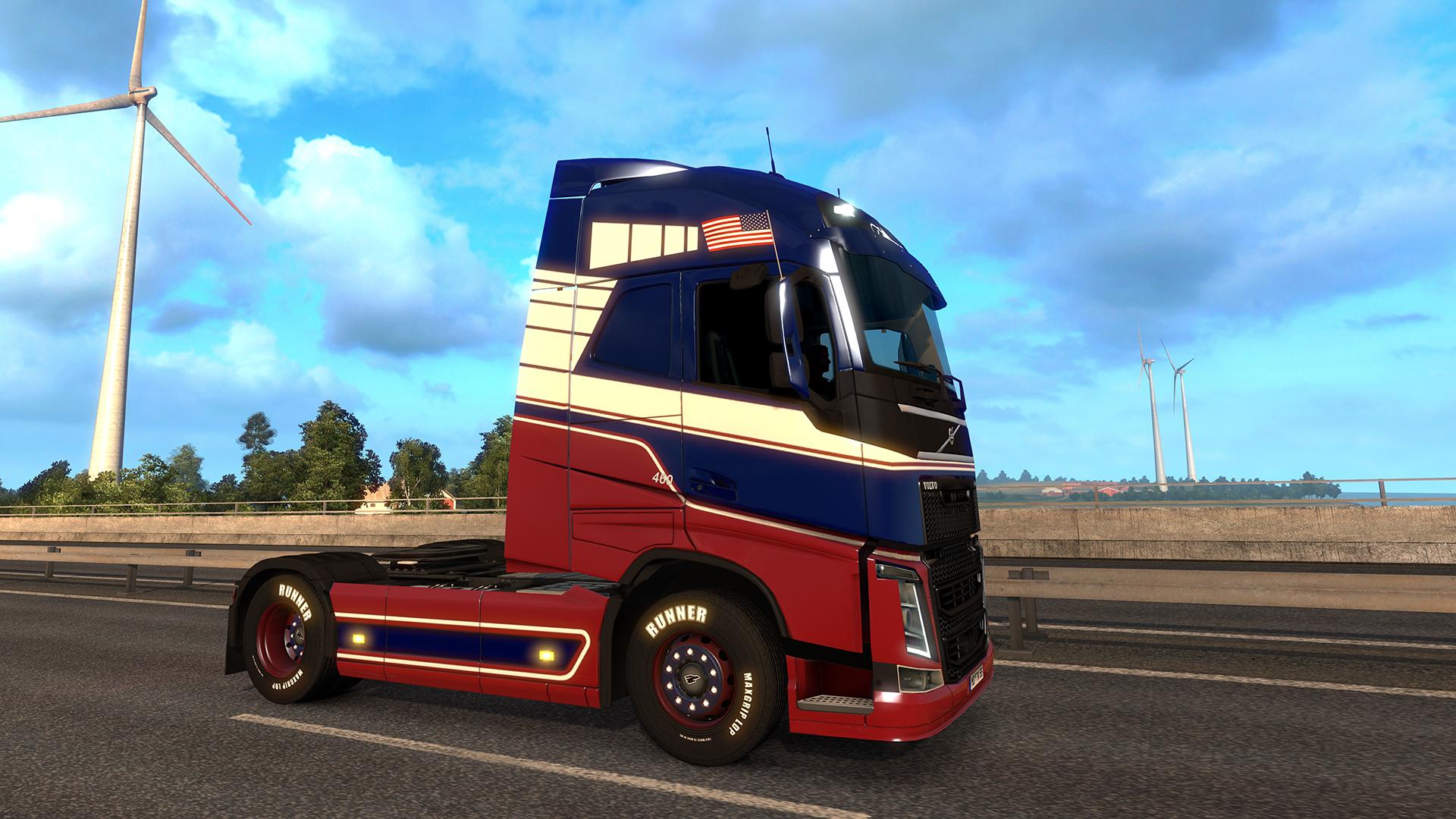 Euro Truck Simulator 2 - National Window Flags screenshot