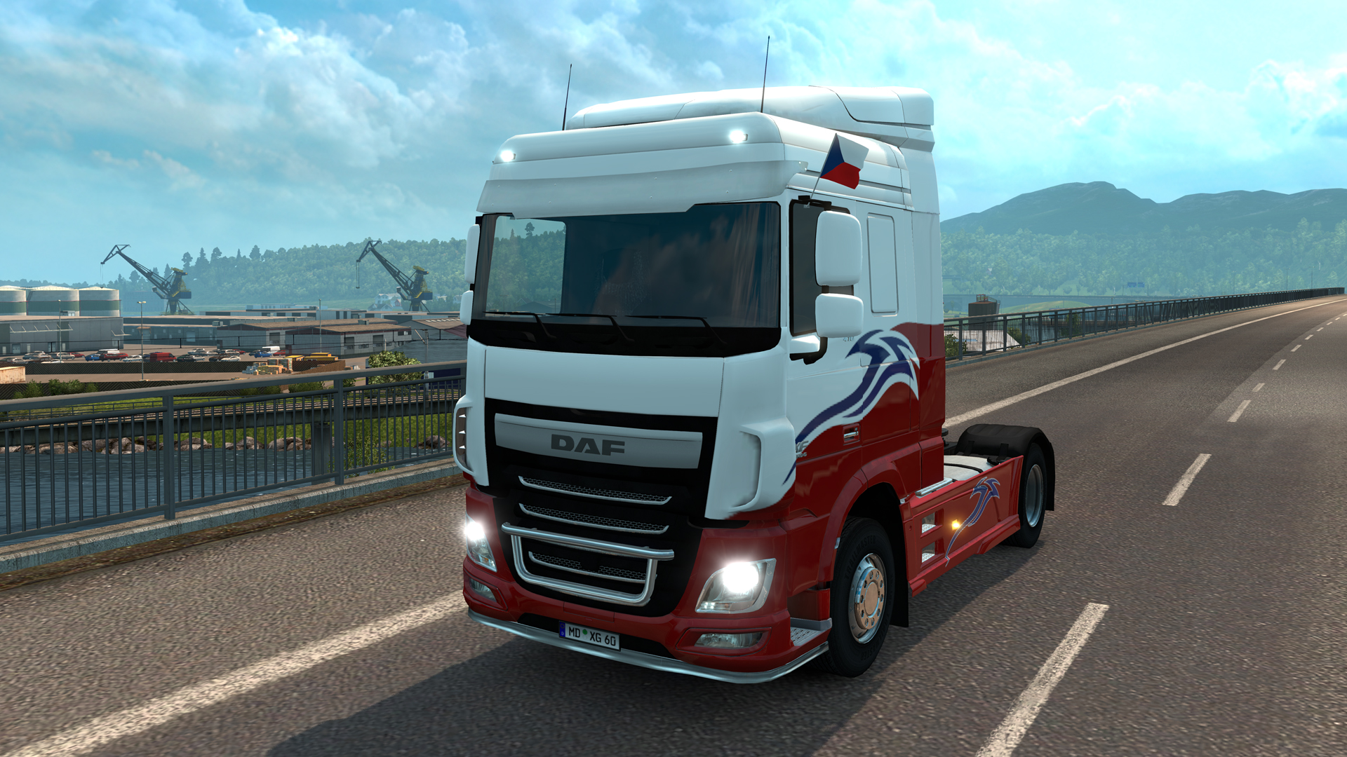 Euro Truck Simulator 2 - Window Flags screenshot