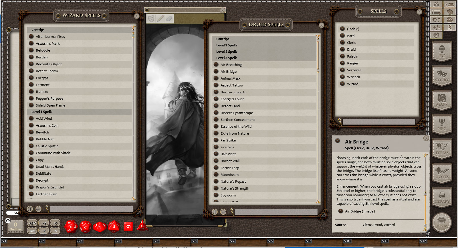 Fantasy Grounds - 5E: Book of Lost Spells (Fifth Edition) screenshot