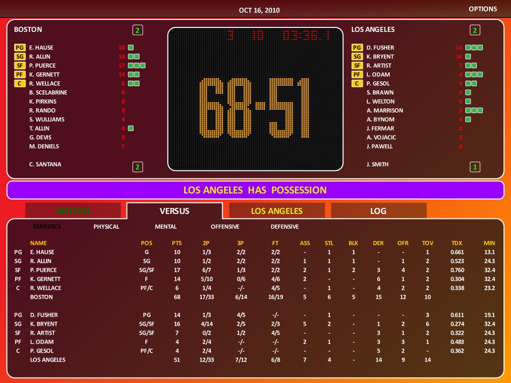 World Basketball Manager 2010 screenshot