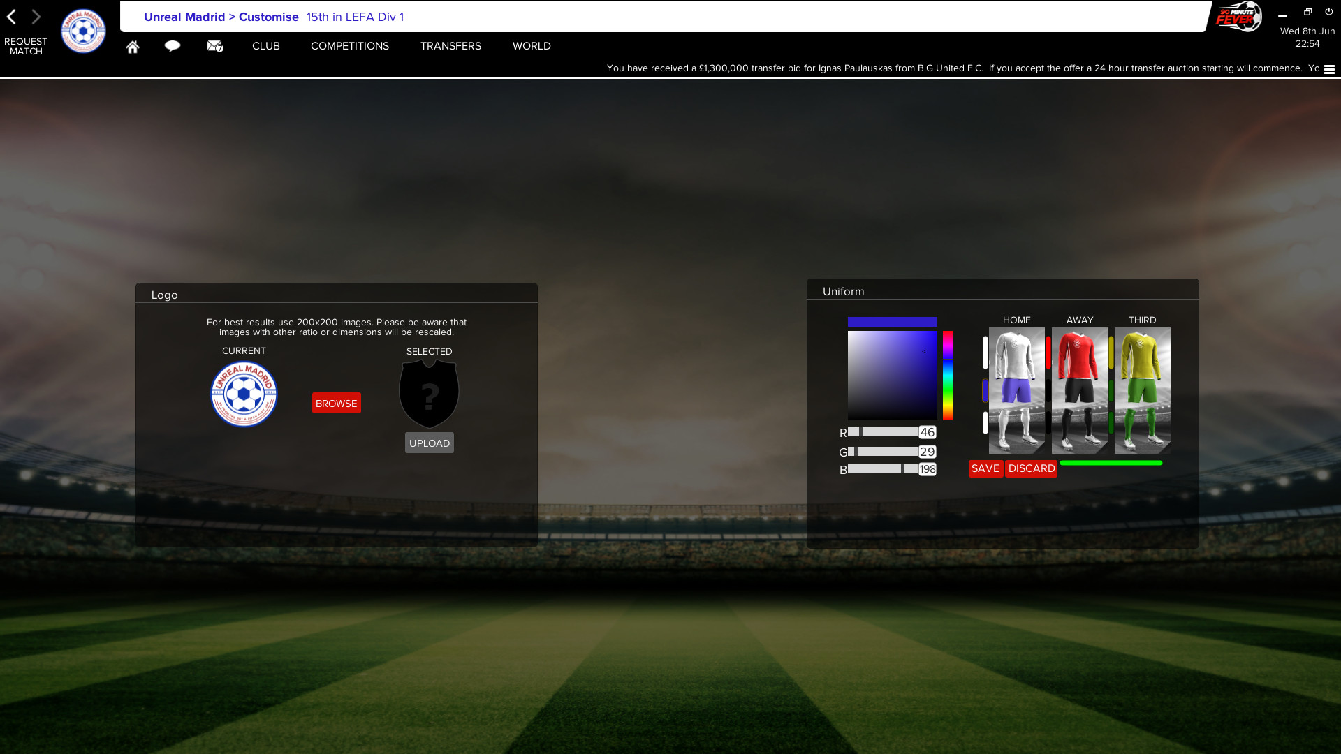 90 Minute Fever - Football (Soccer) Manager MMO screenshot