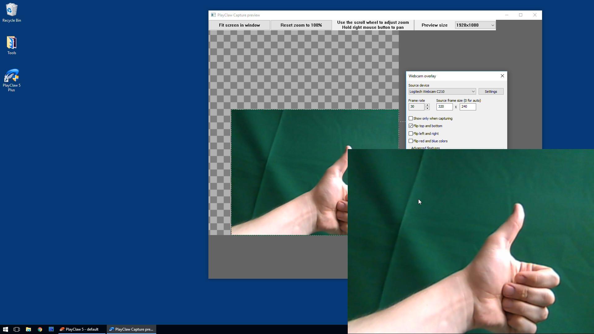 PlayClaw 5 - Chroma Key for overlays screenshot