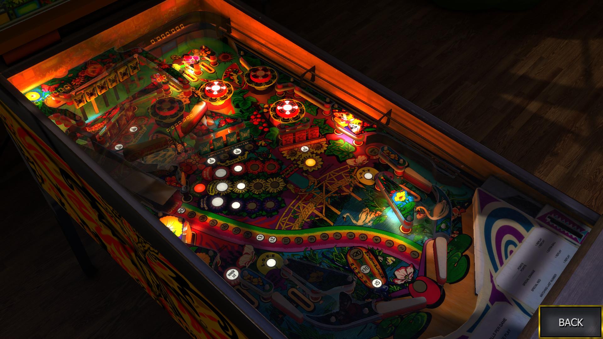 Zaccaria Pinball - Farfalla Table screenshot