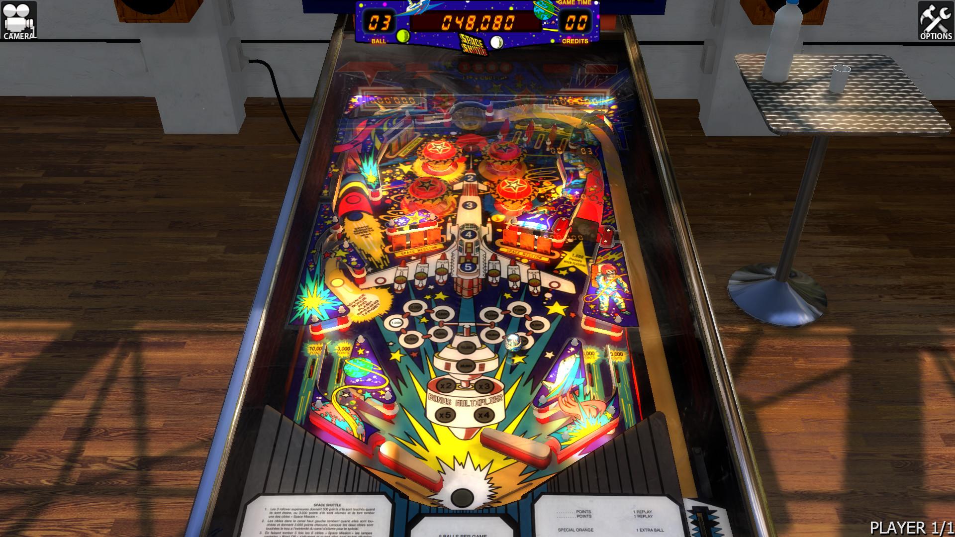 Zaccaria Pinball - Space Shuttle Table screenshot