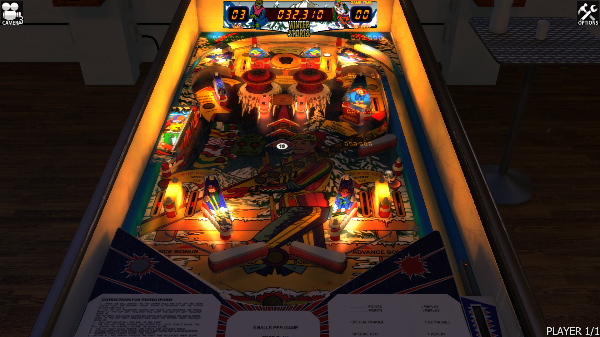 Zaccaria Pinball - Winter Sports Table screenshot