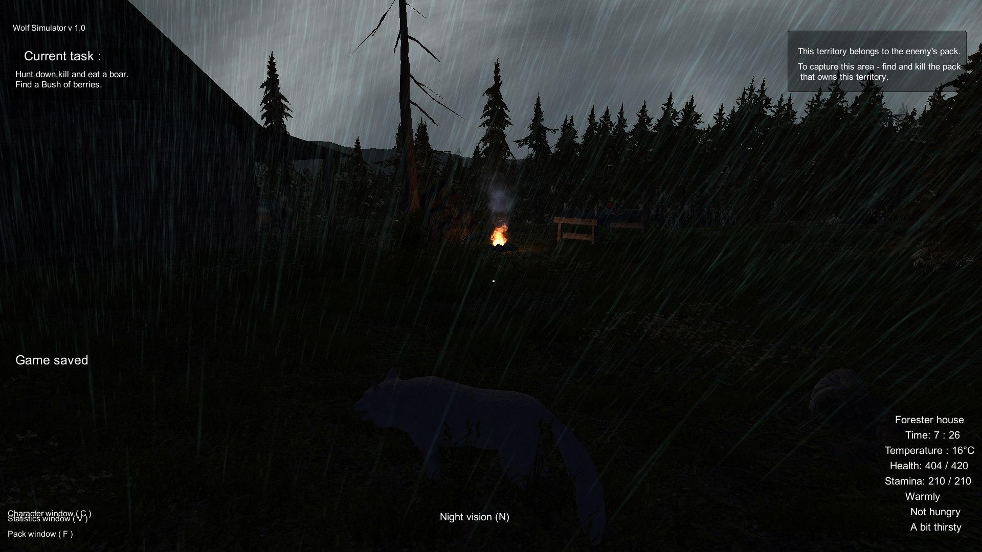 Wolf Simulator screenshot