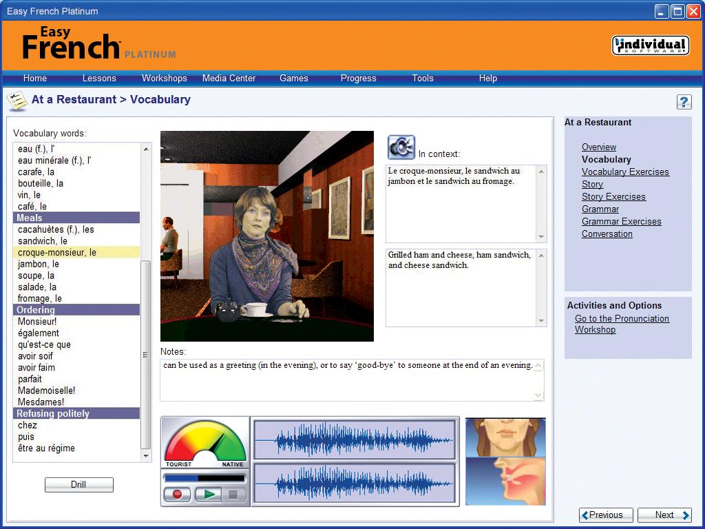 Easy French Platinum screenshot