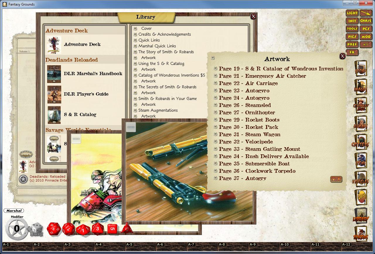 Fantasy Grounds - Deadlands: The 1880 Smith & Robards Catalog screenshot