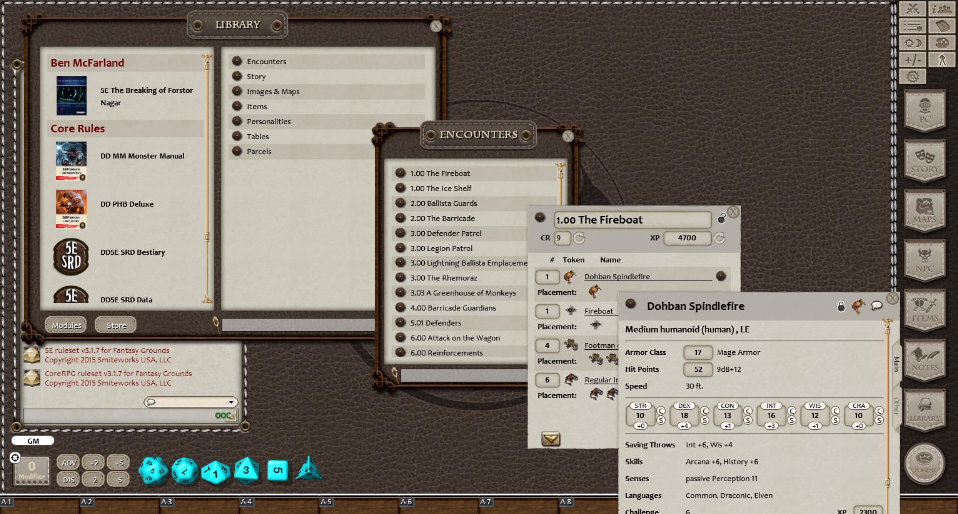 Fantasy Grounds - The Breaking of Forstor Nagar (5E) screenshot