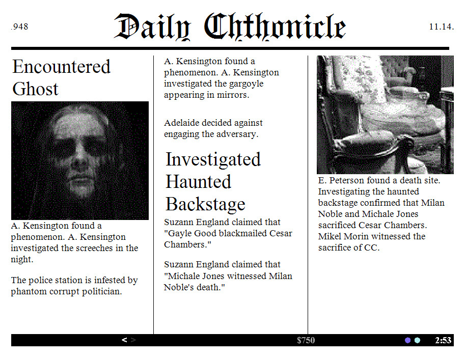 Daily Chthonicle: Editor's Edition screenshot