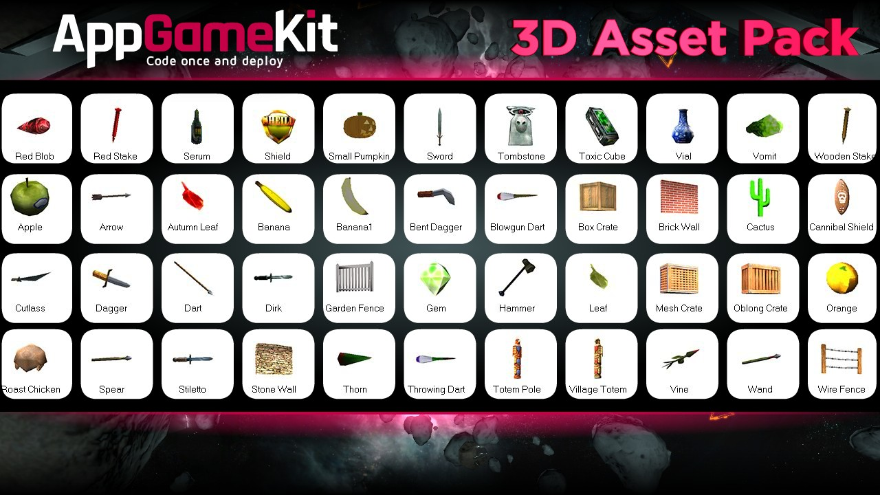 AppGameKit - 3D Asset Pack screenshot