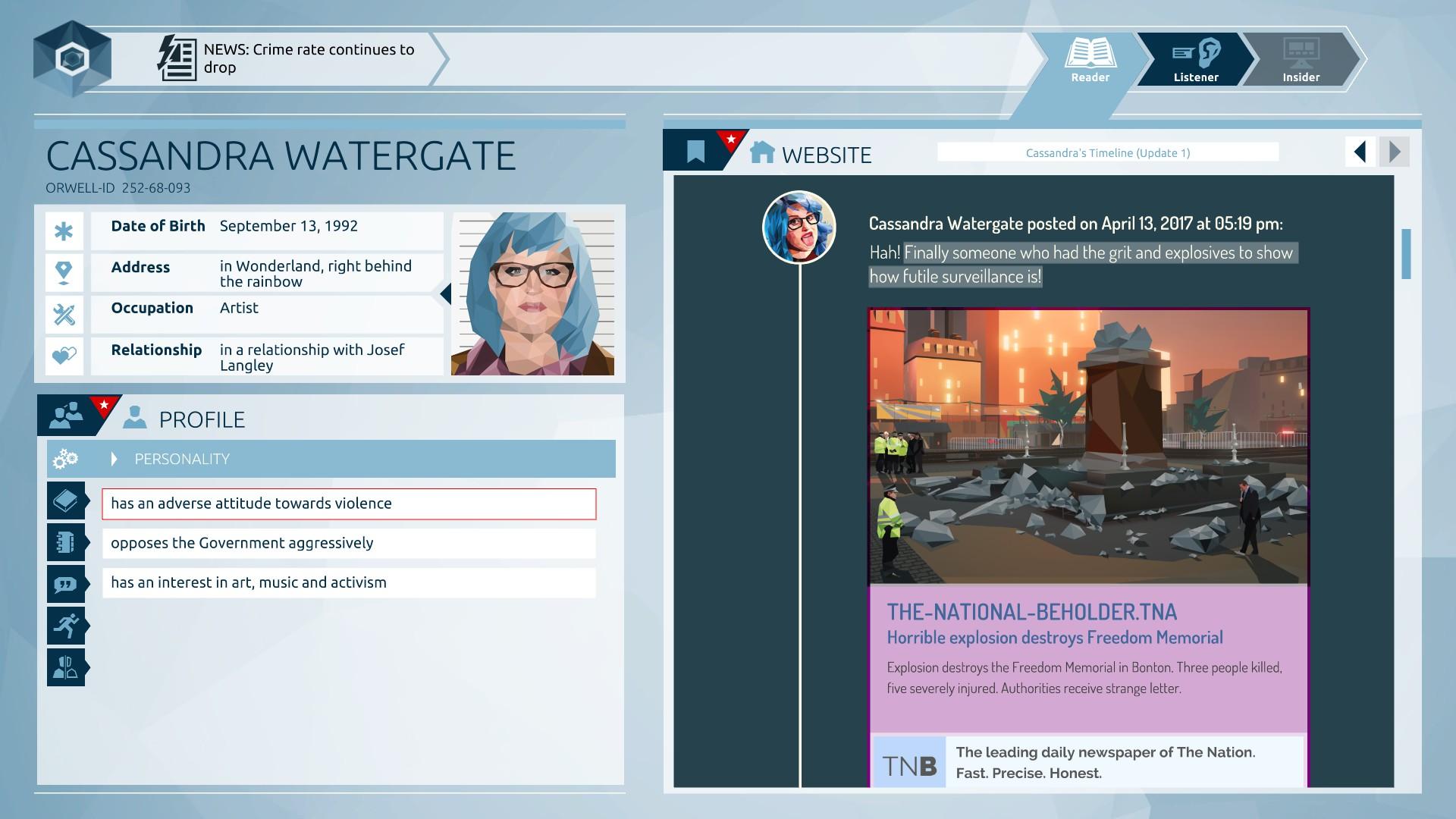 Orwell Screenshot 1