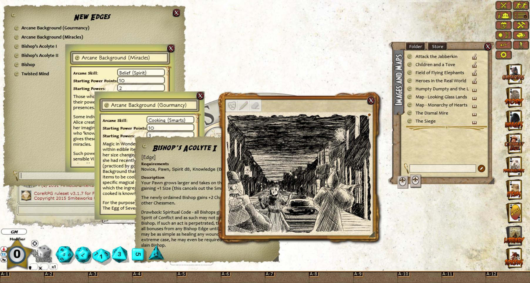 Fantasy Grounds - Wonderland No More: Egg of Seven Parts screenshot