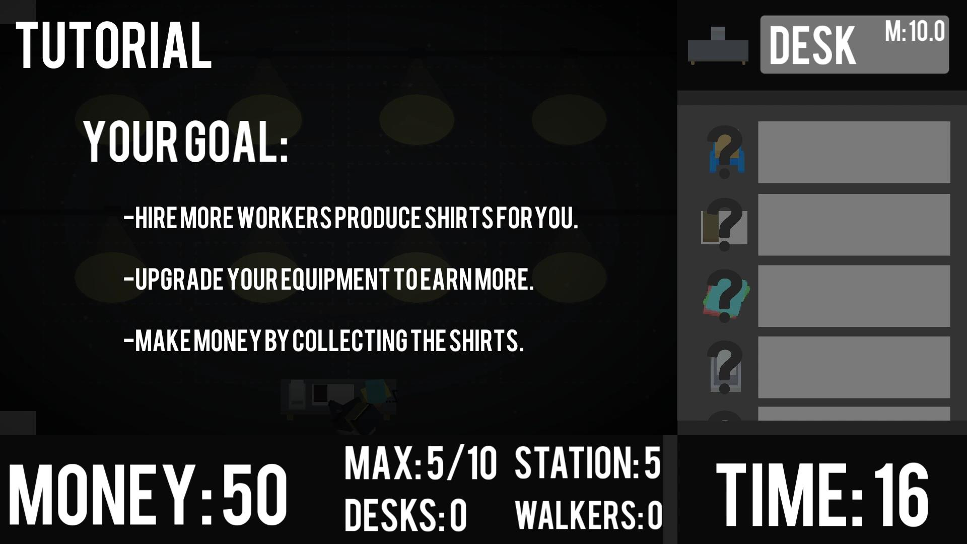 SweatShop screenshot
