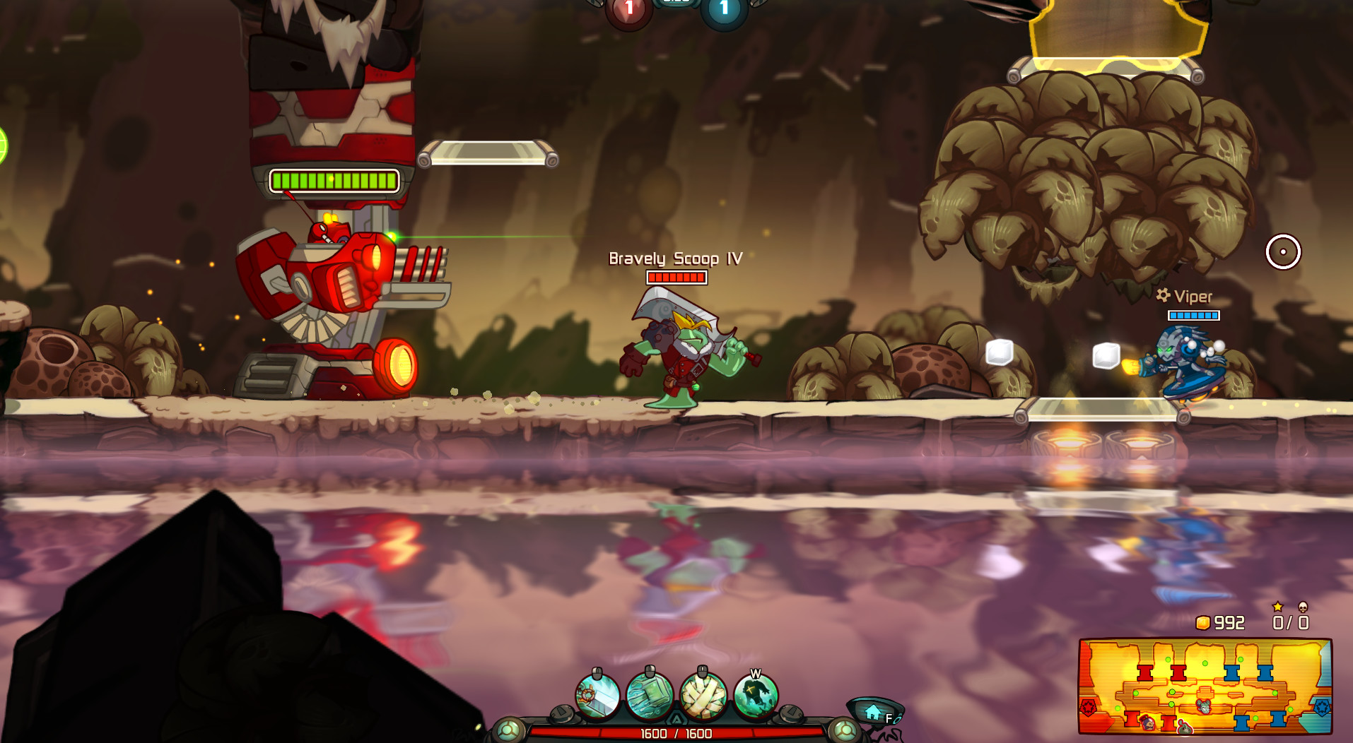 Awesomenauts - Bravely Scoop IV: Eternal Fantasy Skin screenshot