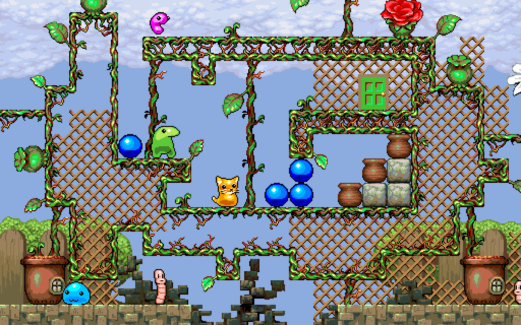 Kitty Kitty Boing Boing: the Happy Adventure in Puzzle Garden! screenshot