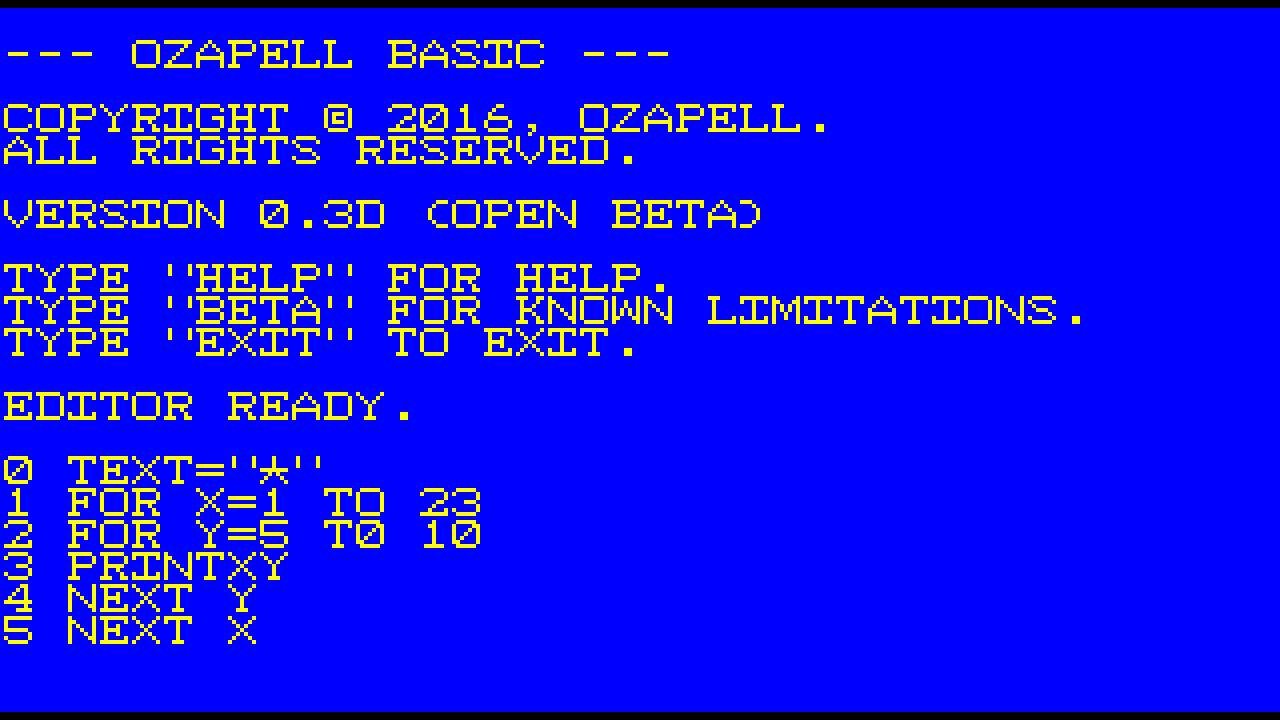 Ozapell Basic screenshot