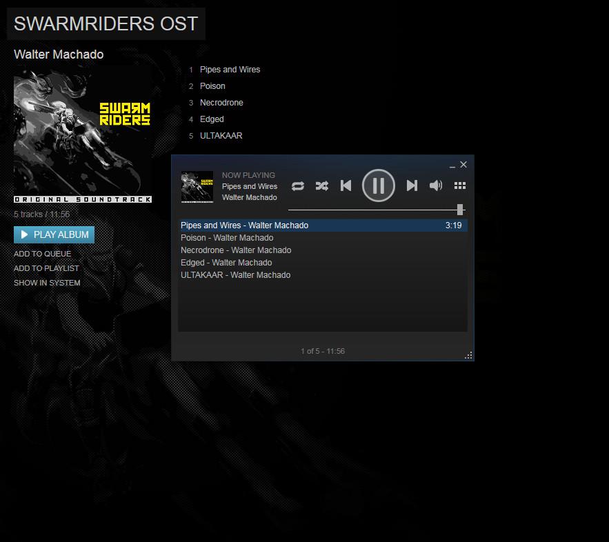 SWARMRIDERS: Original Soundtrack screenshot