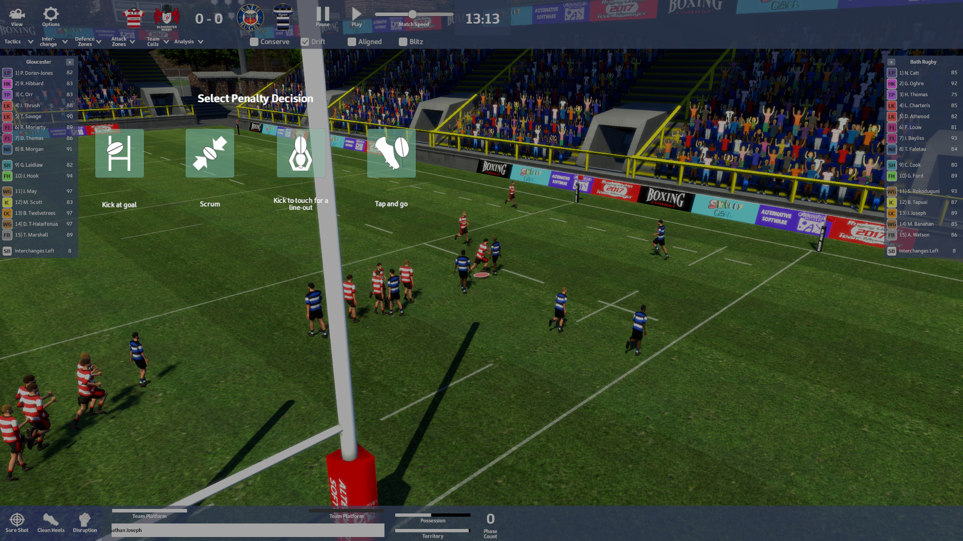 Rugby Union Team Manager 2017 screenshot