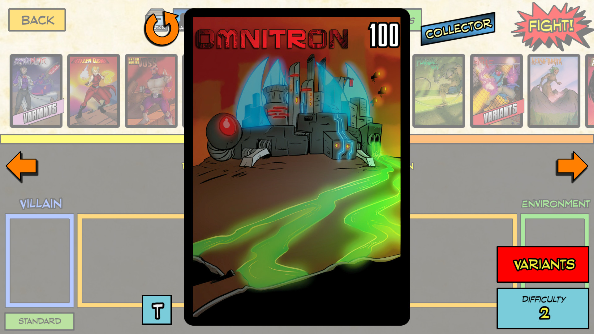 Sentinels of the Multiverse - Digital Foil Villain Collector's Pack screenshot