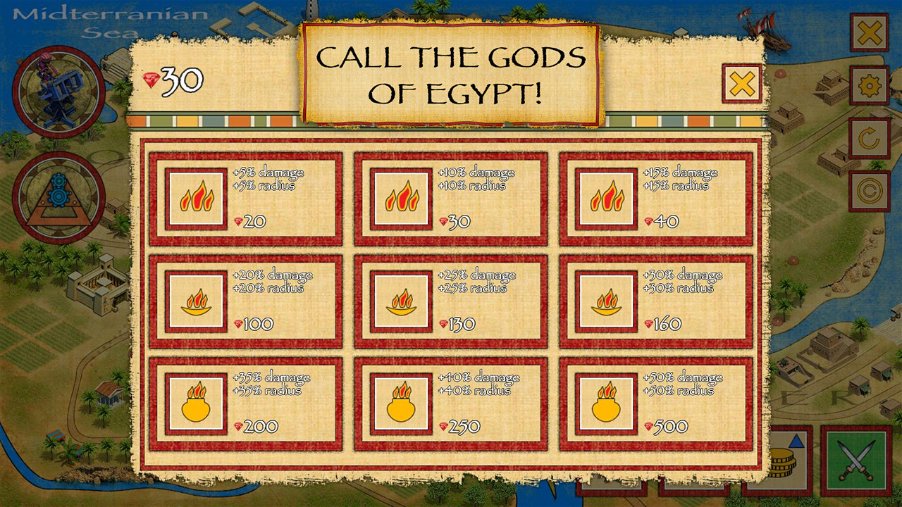 Defense of Egypt: Cleopatra Mission screenshot