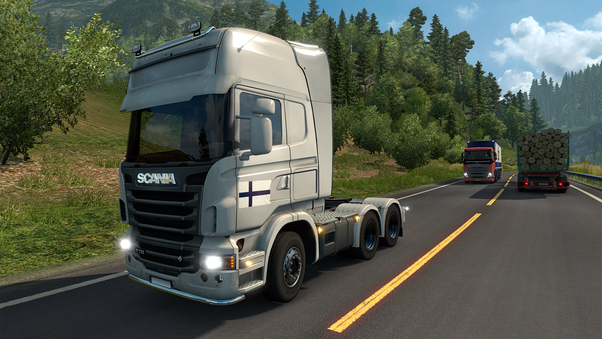 Euro Truck Simulator 2 - Finnish Paint Jobs Pack screenshot