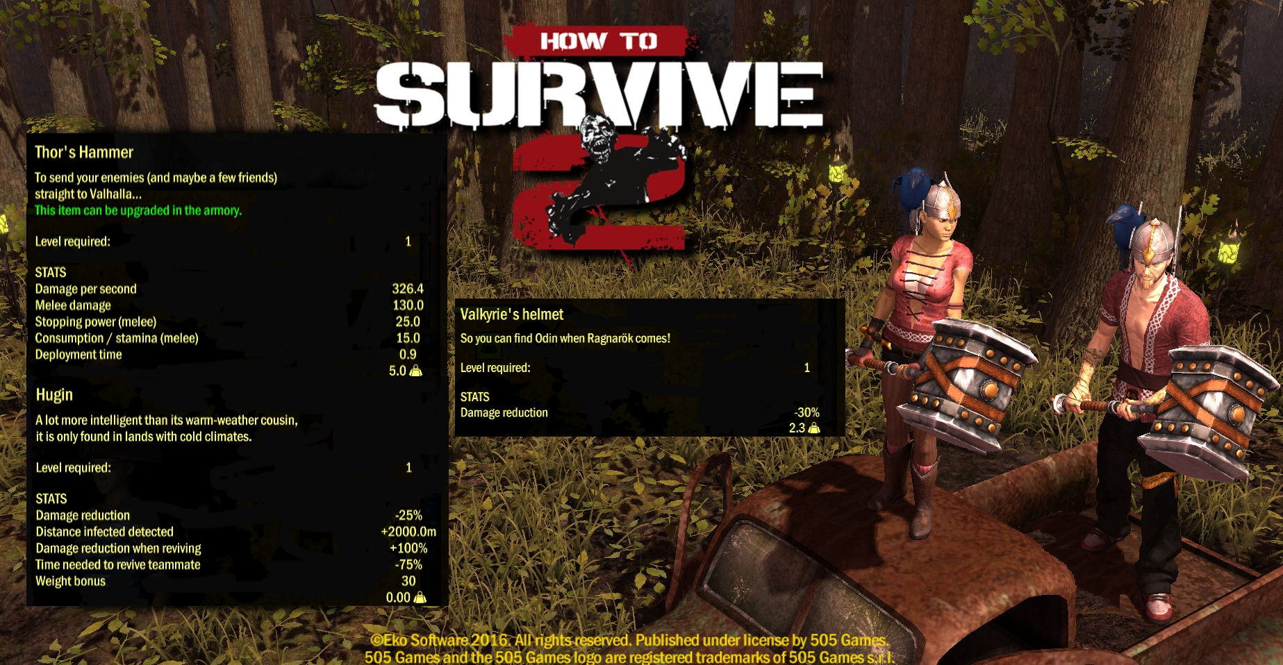How To Survive 2 - Norse God Skin Pack screenshot