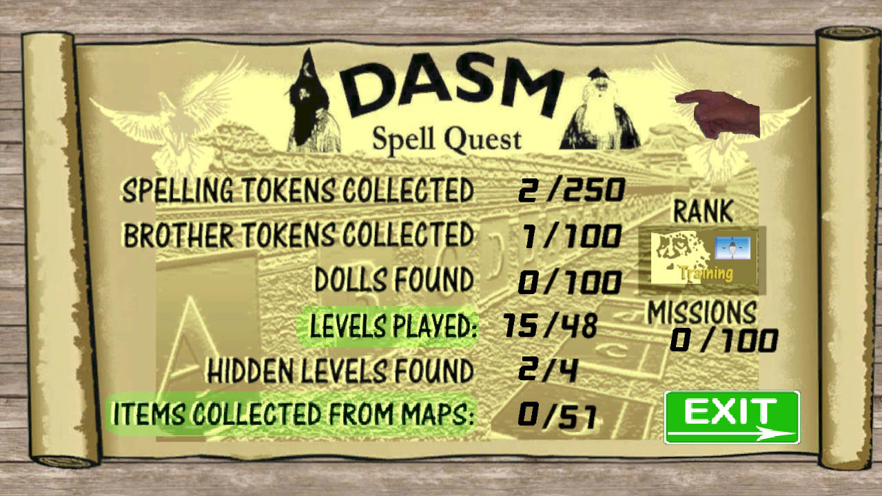 World of DASM, DASM Spell Quest screenshot