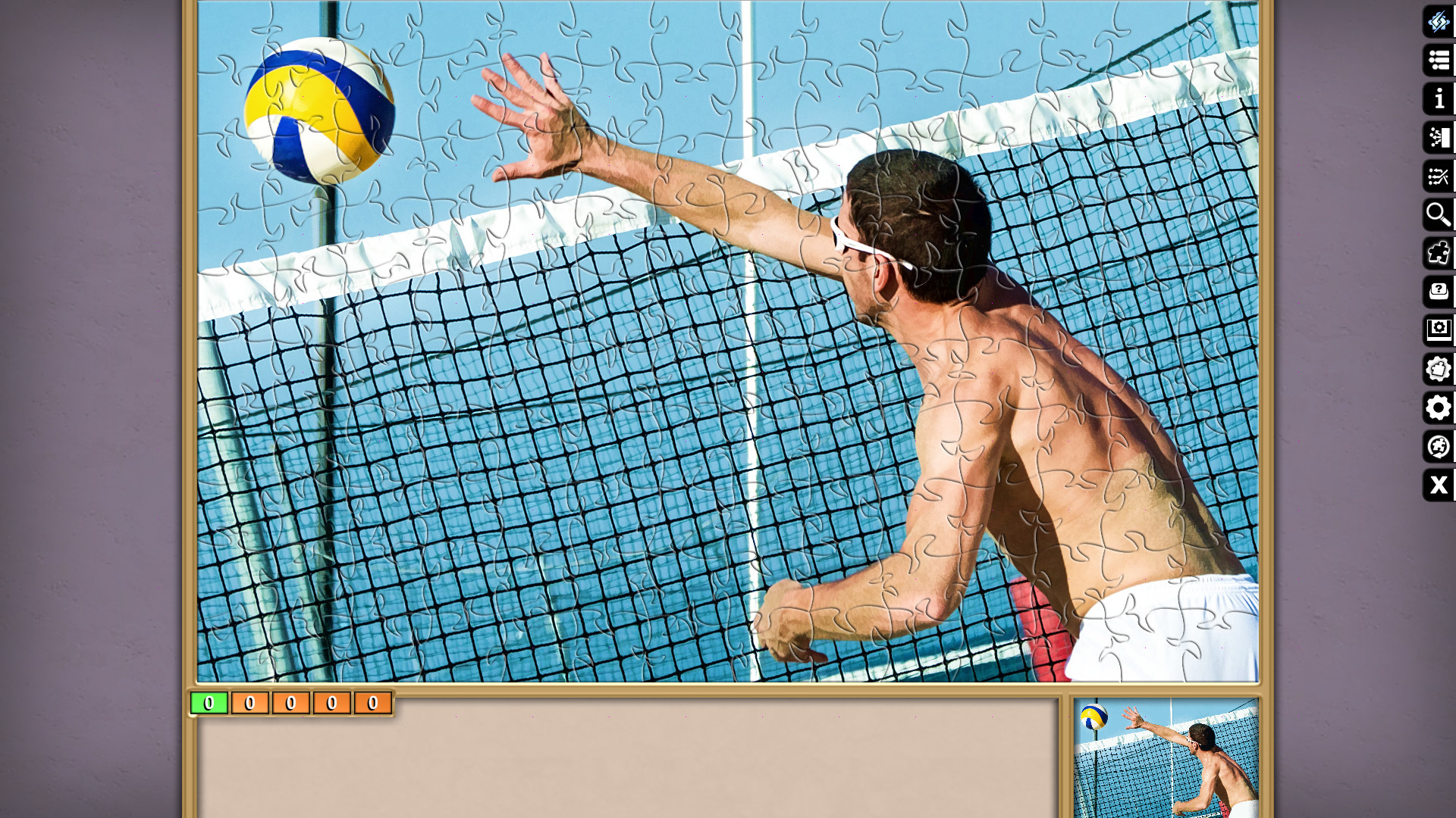 Jigsaw Puzzle Pack - Pixel Puzzles Ultimate: Beach Volleyball screenshot
