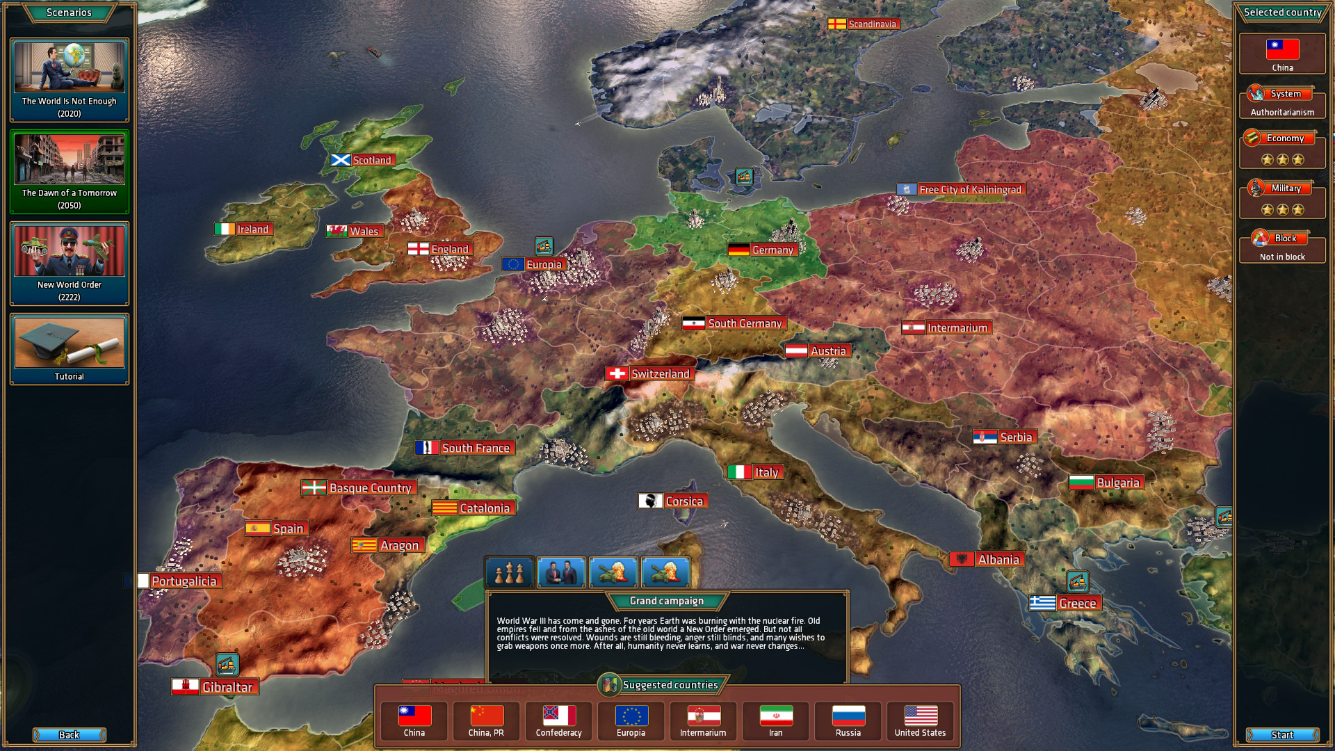 Realpolitiks On Steam - Country games