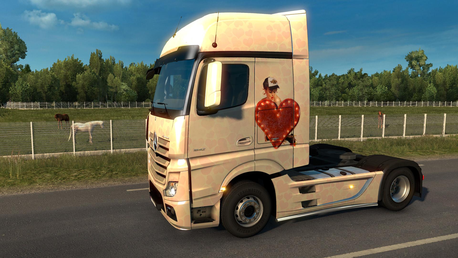 Euro Truck Simulator 2 - Valentine's Paint Jobs Pack screenshot