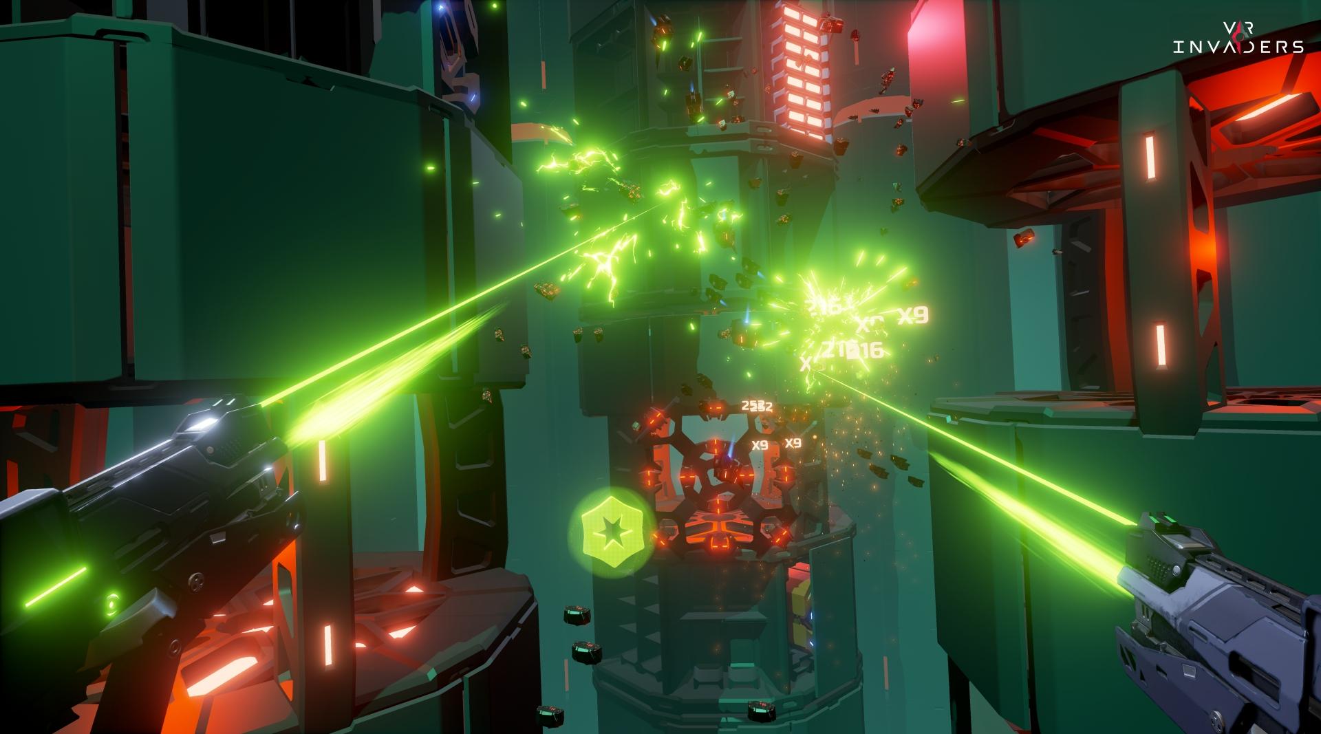 VRゲーム、VR Invaders、ゲームイメージ