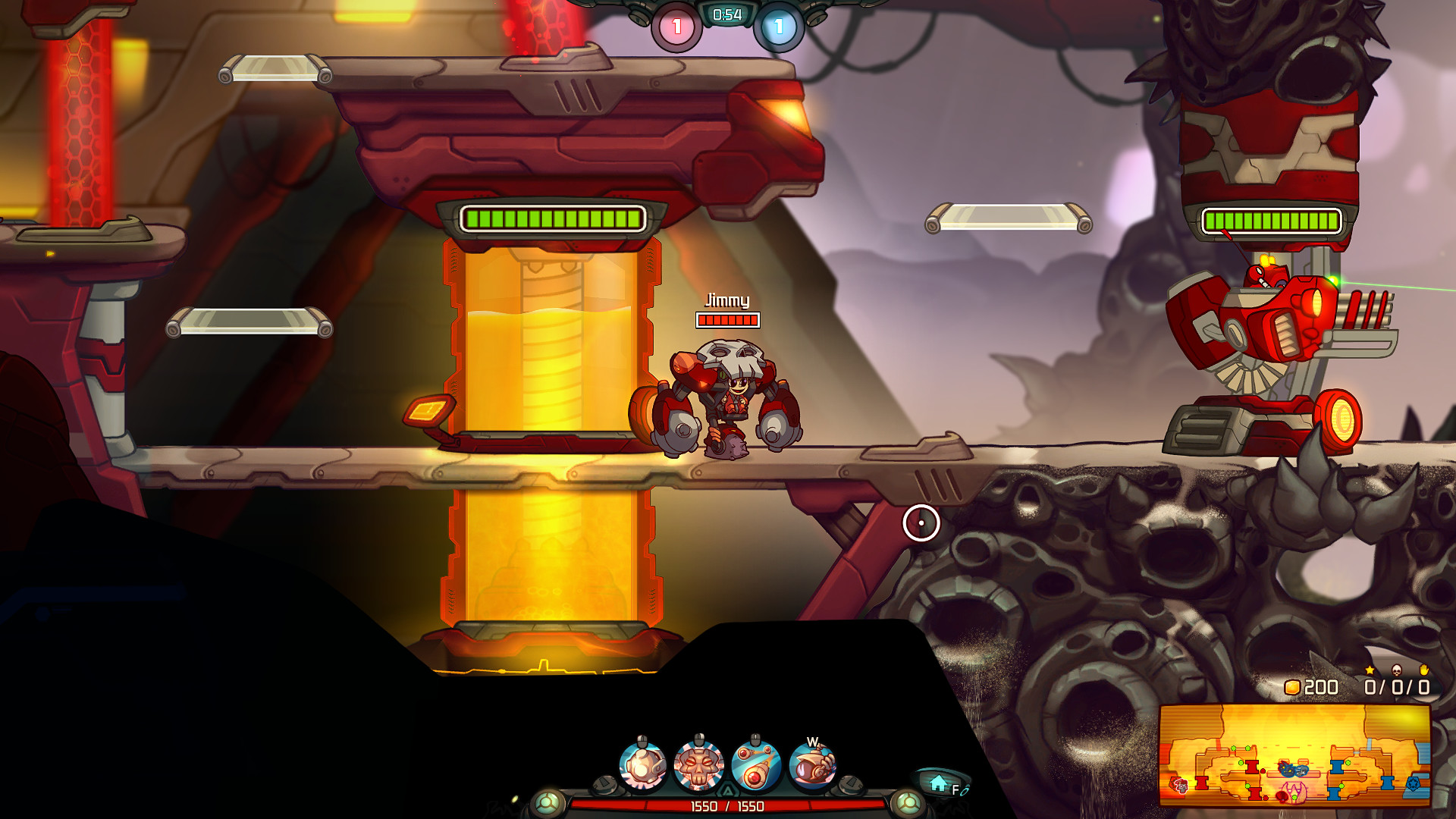 Jimmy and the LUX5000 - Awesomenauts Character screenshot